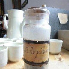 Antigüedades: ANTIGUO FRASCO DE FARMACIA C DE COPAIBA. Lote 56687834