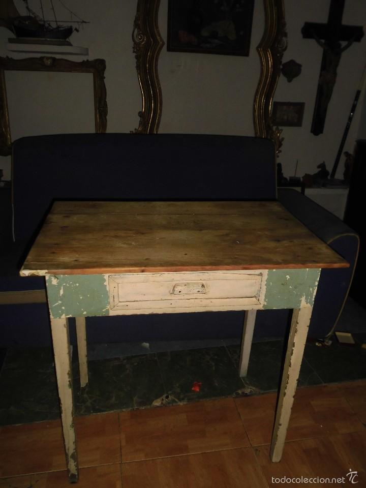 Mesa antigua tocinera madera maciza ideal para comprar - Mesas antiguas de cocina ...