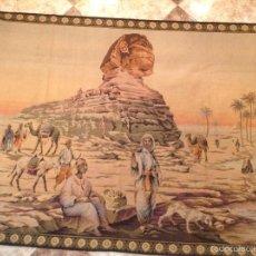 Antigüedades: TAPIZ ESFINGE EGIPTO 165*127. Lote 56690435