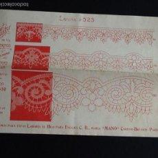 Antigüedades: EL CONSULTOR DE LOS BORDADOS. ENCAJE DE BOLILLOS. AÑOS 20. LAMINA 525. Lote 56693794