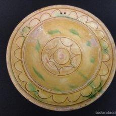Antigüedades: ALFARERÍA CATALANA: PLATA (FUENTE) DE PIERA. Lote 56697180