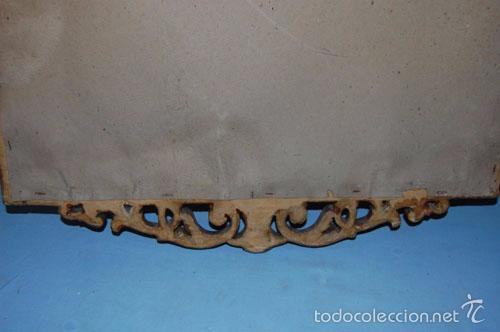 Antigüedades: ESPEJO CORNUCOPIA EN MADERA CON COPETE SUPERIOR E INFERIOR - Foto 4 - 56699678