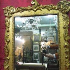 Antigüedades: MARCO ESPEJO DORADO SIGLO XIX. Lote 56701060