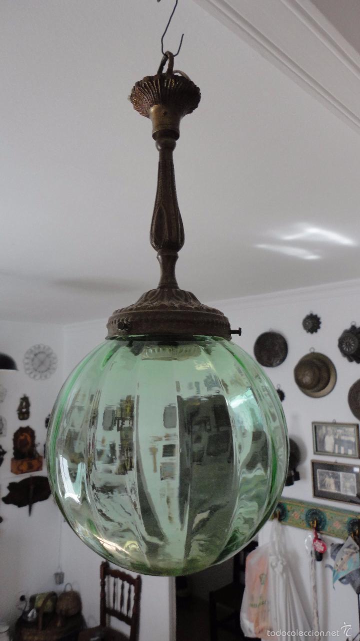 Antigua lampara de techo art vidrio comprar - Lamparas anos 20 ...