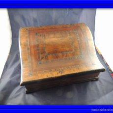 Antigüedades: CAJA DE MADERA SIGLO XVIII PAPELERO CON MARQUETERIA. Lote 56714242