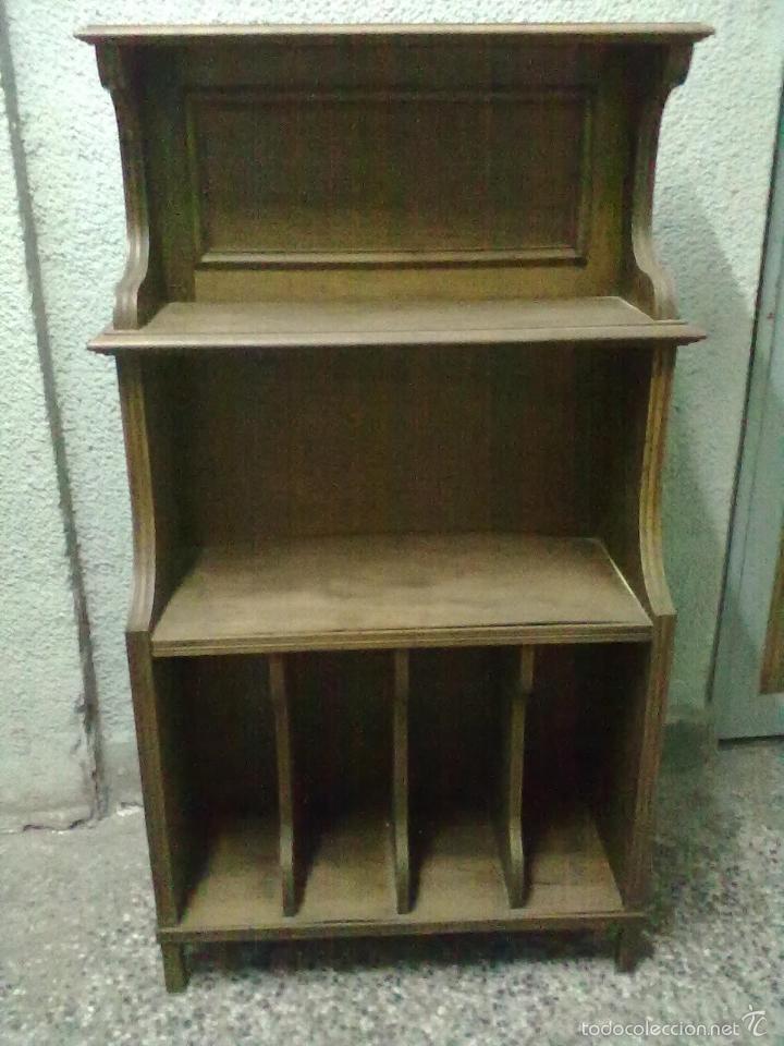 Musiquero nogal para restaurar mueble discos comprar for Muebles antiguos para restaurar