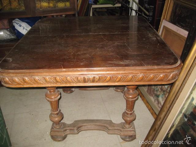 antigua mesa de comedor extensible con ruedas - - Comprar Mesas ...