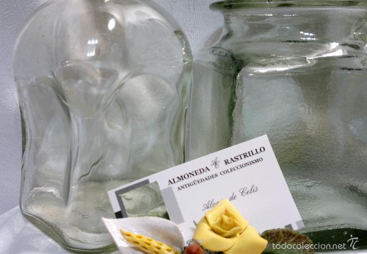 Antigüedades: CONJUNTO DE TRES RECIPIENTES ANTIGUOS DE COCINA EN VIDRIO. - Foto 7 - 56727601