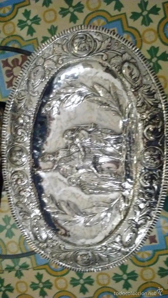 Antigüedades: BANDEJA DE PLATA DE LEY - Foto 2 - 56737029