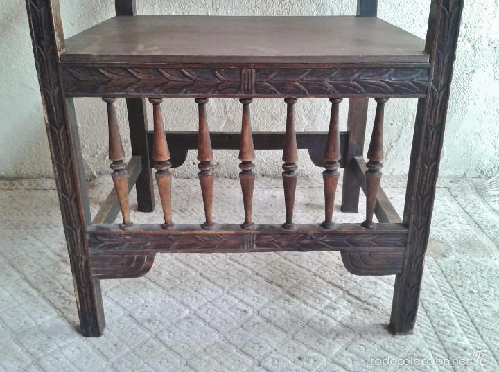 Antigüedades: Sillón frailero antiguo, sillón estilo renacimiento, Luis XIII. Sillón español, sillón castellano. - Foto 12 - 56742620