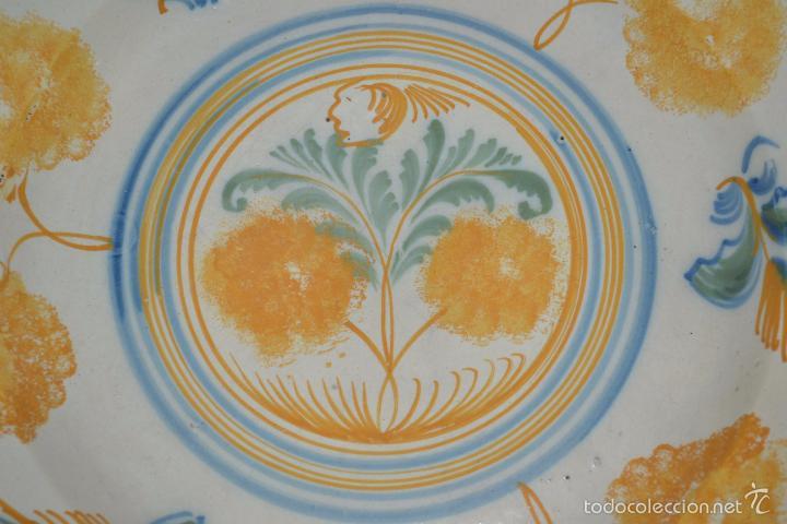 Antigüedades: PRECIOSO PLATO EN CERAMICA POLICROMA DE TRIANA,(SEVILLA),S. XIX - Foto 4 - 56746399