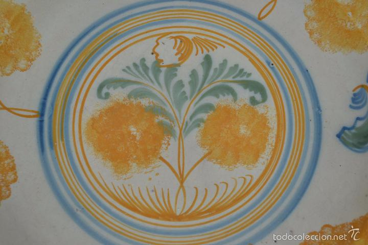 Antigüedades: PRECIOSO PLATO EN CERAMICA POLICROMA DE TRIANA,(SEVILLA),S. XIX - Foto 5 - 56746399