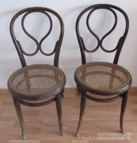 Dos sillas thonet originales con sello comprar sillas for Sillas originales