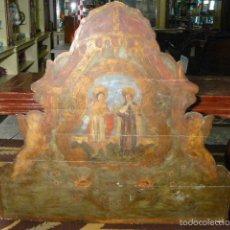 Antigüedades: MAGNIFICO CABEZAL DE OLOT SIGLO XVIII. Lote 56750992