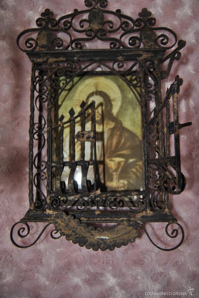 Antigüedades: CAPILLA O URNA DE PARED ANTIGUA - Foto 6 - 56754178