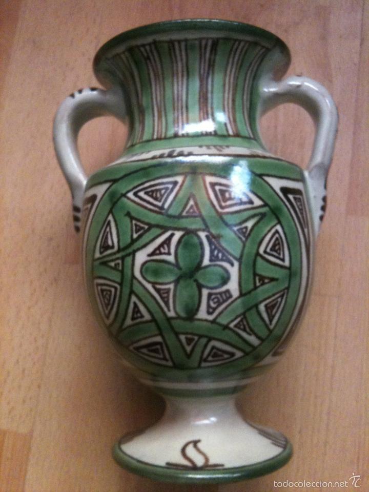 JARRON REF,Nº21,DOMINGO PUNTER,17 CM (Antigüedades - Porcelanas y Cerámicas - Teruel)
