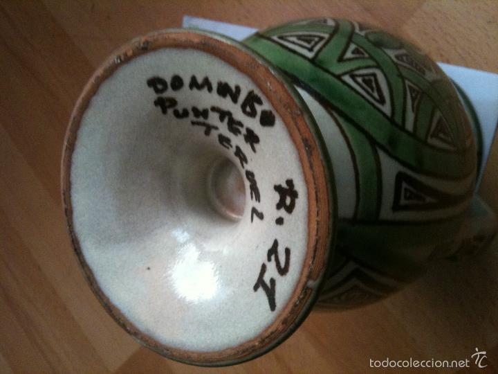 Antigüedades: JARRON REF,Nº21,DOMINGO PUNTER,17 CM - Foto 2 - 56795819