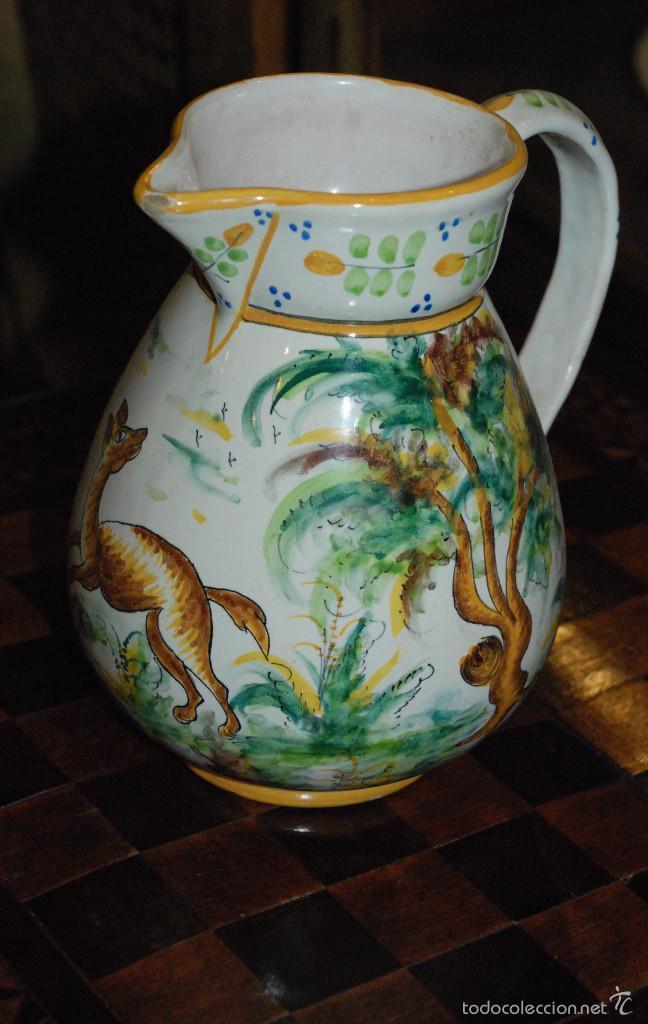 ANTIGUA JARRA DE CERÁMICA DE MANISES.VICENTE GIMENO. (Antigüedades - Porcelanas y Cerámicas - Manises)