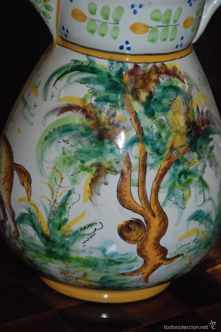Antigüedades: ANTIGUA JARRA DE CERÁMICA DE MANISES.VICENTE GIMENO. - Foto 5 - 56801306