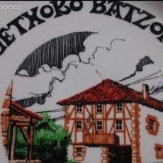 Antigüedades: PLATO GETXOKO BATZOKIA 1979 SEDE PNV DE GETXO. Lote 56801764