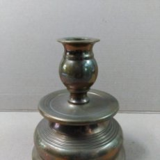 Antigüedades: CANDELERO DE BRONCE. Lote 56802100