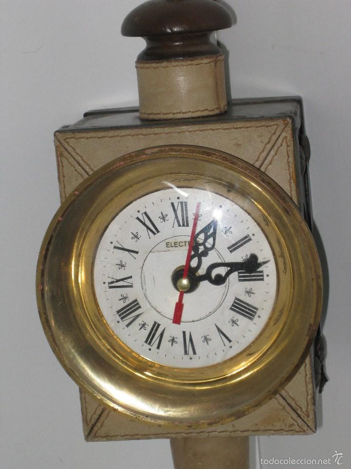 Antigüedades: farol antiguo de carroza (reloj) - Foto 2 - 56803530