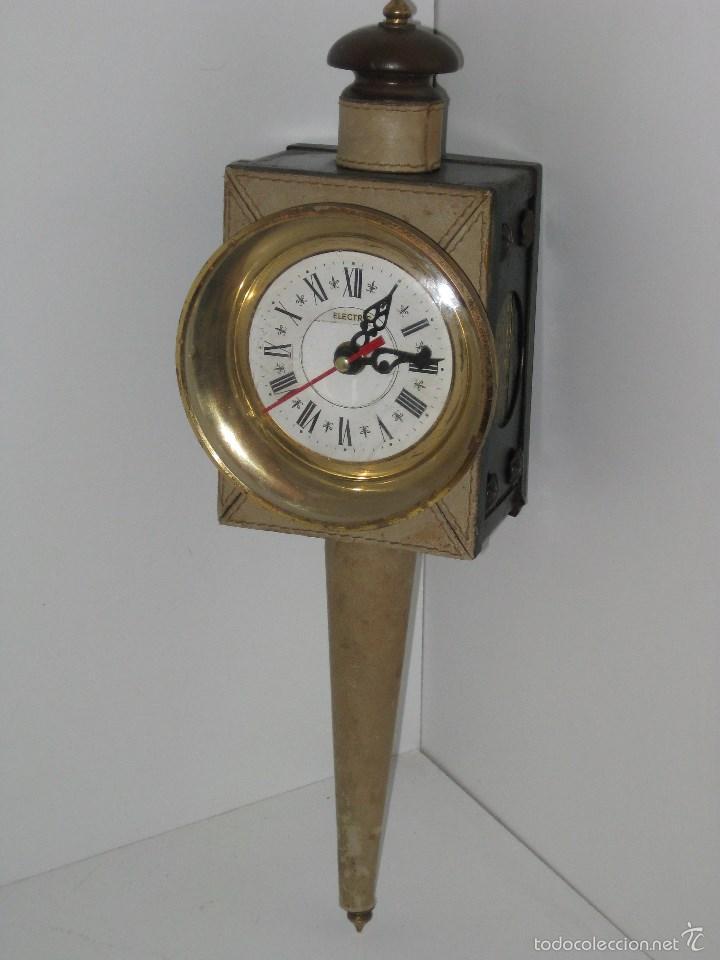 Antigüedades: farol antiguo de carroza (reloj) - Foto 3 - 56803530