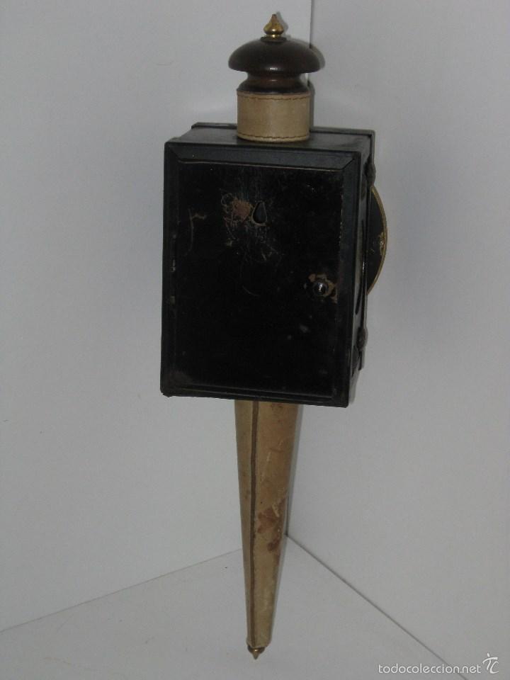 Antigüedades: farol antiguo de carroza (reloj) - Foto 5 - 56803530