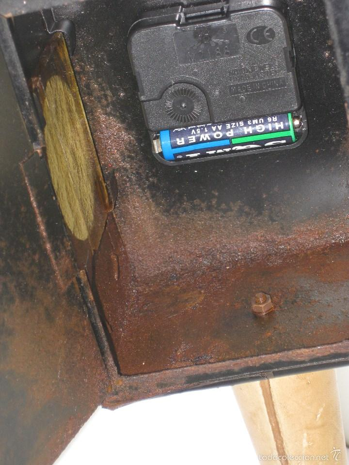 Antigüedades: farol antiguo de carroza (reloj) - Foto 6 - 56803530