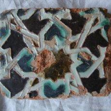 Antigüedades: AZULEJO MUDEJAR SIGLO XV. Lote 56804456