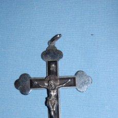 Antigüedades: CRUCIFIJO EN METAL Y MADERA. Lote 56810854
