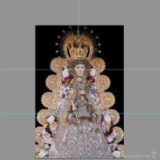 Antigüedades: PRECIOSO RETABLO 6 AZULEJOS 15X15 CTM DE LA VIRGEN DEL ROCIO. Lote 56830049