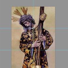 Antigüedades: PRECIOSO RETABLO 6 AZULEJOS 15X15 CTM DE JESÚS DEL GRAN PODER. Lote 56830212