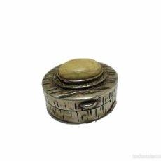 Antigüedades: PEQUEÑA CAJITA DE PLATA CON CONTRASTE Y MARFIL- SIGLOXX. Lote 56832725