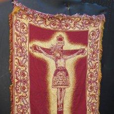 Antigüedades: ENORME! 170X110CM TAPIZ STMO SANTISIMO CRISTO DE LA PROVIDENCIA BENIMACLET VALENCIA. Lote 56835962