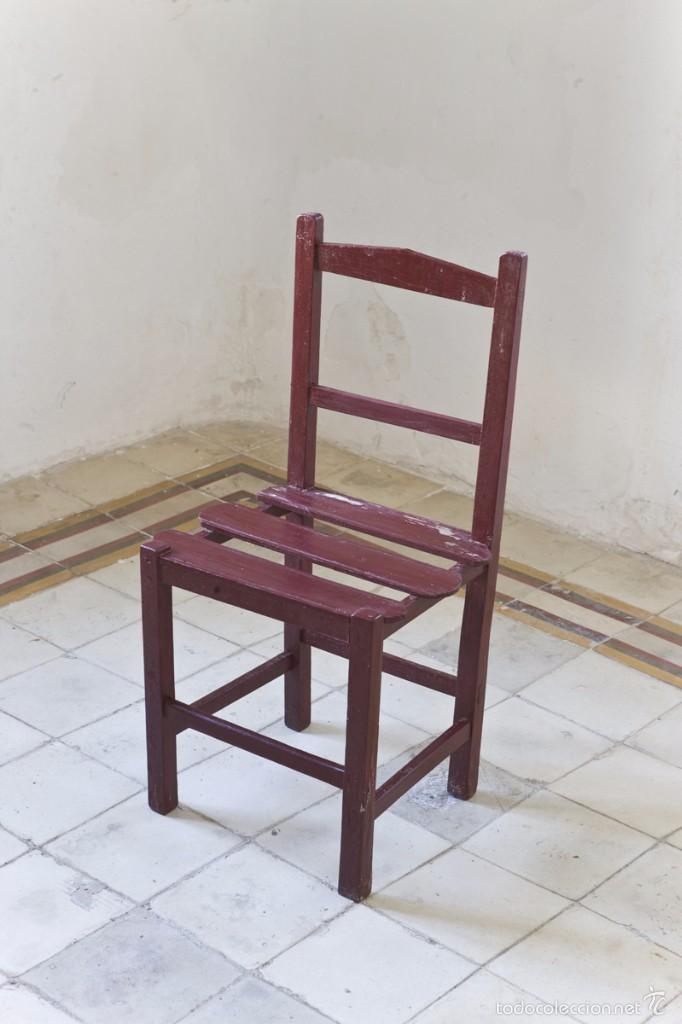 Lote 4 sillas de madera antiguas comprar sillas antiguas - Sillas antiguas de madera ...