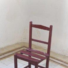 Antigüedades: LOTE 4 SILLAS DE MADERA ANTIGUAS. Lote 56837127