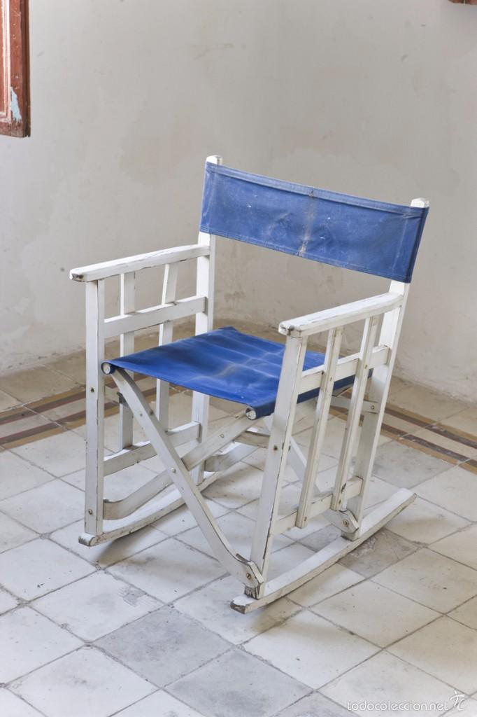 Lote 6 mecedoras plegables de lona para terraza comprar for Sillas para terraza
