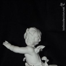 Antigüedades: ANGEL EN AUTÉNTICO BISCUIT PORCELANA ALGORA DOCUMENTADA. MUY POCO FRECUENTE EN PERFECTO ESTADO.. Lote 56844033