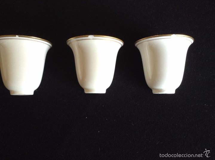 Antigüedades: Taza con plato de café y cuenco de porcelana muy fina, antigua de plata de ley. - Foto 7 - 56845150