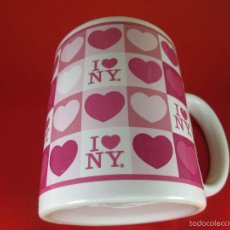Antigüedades: TAZÓN-COFFE MUG-YO AMO N.Y.-10X8 CMS-BUEN ESTADO-VER FOTOS.. Lote 56845569