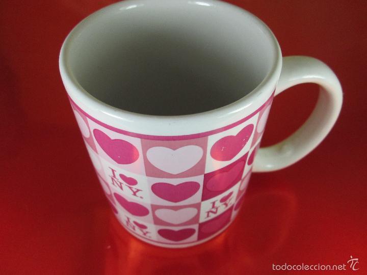 Antigüedades: TAZÓN-COFFE MUG-YO AMO N.Y.-10x8 CMS-BUEN ESTADO-VER FOTOS. - Foto 4 - 56845569