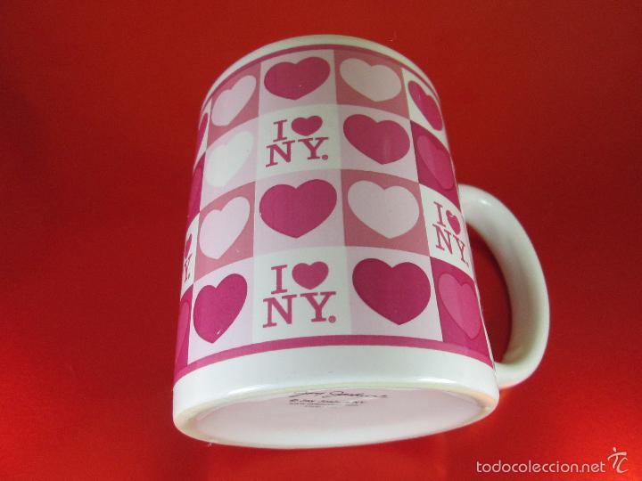 Antigüedades: TAZÓN-COFFE MUG-YO AMO N.Y.-10x8 CMS-BUEN ESTADO-VER FOTOS. - Foto 5 - 56845569