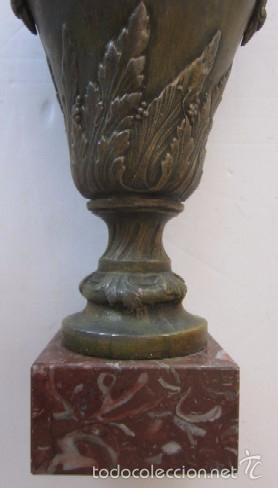 Antigüedades: JARRON FLORERO EN METAL BRONCEADO - ESTILO ISABELINO - Foto 2 - 56847870