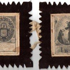 Antigüedades: ESCAPULARIO ANTIGUO SAN FRANCISCO, VENERABLE ORDEN TERCERA N. S. P. SAN FRANCISCO. Lote 56855235