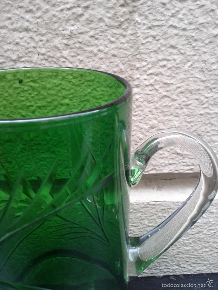 Antigüedades: Jarra de cristal tallado hacia 1940 50 - Foto 2 - 56856911