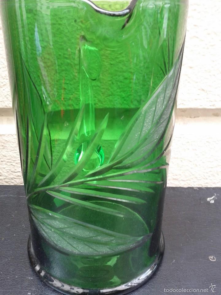 Antigüedades: Jarra de cristal tallado hacia 1940 50 - Foto 3 - 56856911