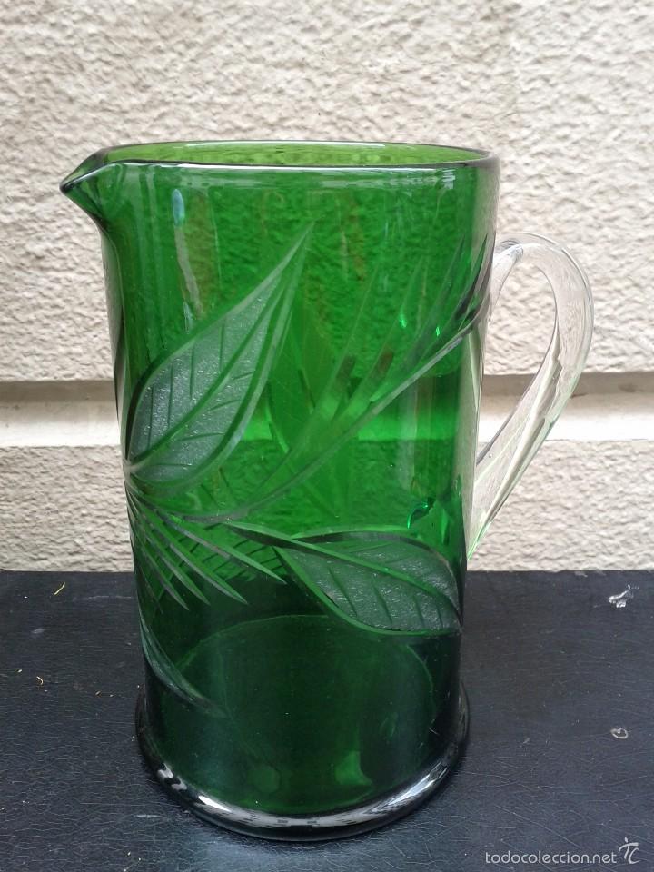 Antigüedades: Jarra de cristal tallado hacia 1940 50 - Foto 4 - 56856911