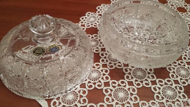Antigüedades: Espectacular Bombonera cristal de Bohemia TALLADO Y SOPLADO 500PK 24% PbO - Foto 2 - 56860406