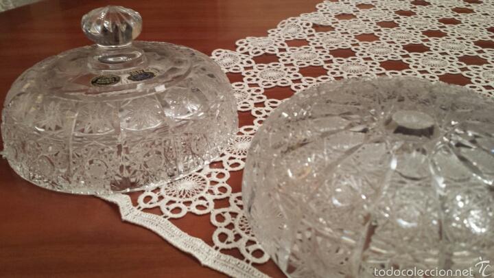 Antigüedades: Espectacular Bombonera cristal de Bohemia TALLADO Y SOPLADO 500PK 24% PbO - Foto 4 - 56860406